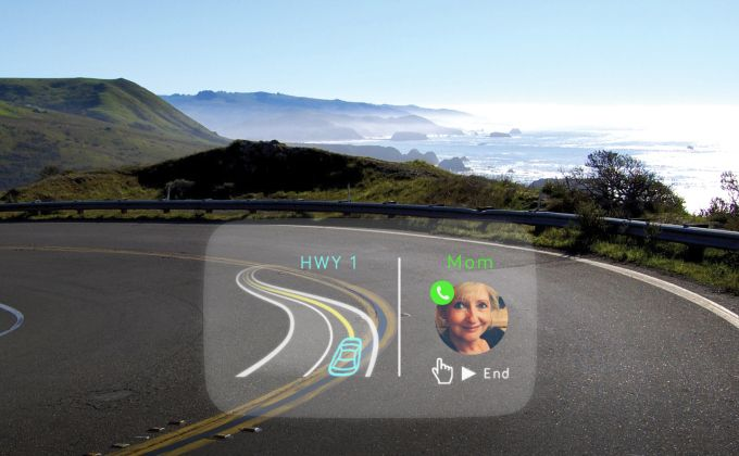 Navdy's Heads-Up Display Wants To Be The Safer Alternative To Using Your Smartphone While Driving   TechCrunch