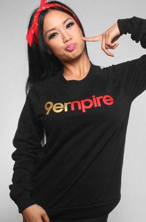 Empire (Women's Black/Gold Crewneck Sweatshirt)