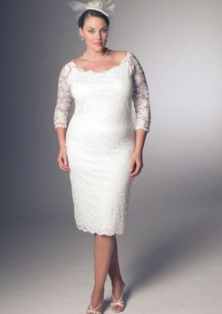 Короткие свадебные платья для полных - http://1svadebnoeplate.ru/korotkie-svadebnye-platja-dlja-polnyh-3792/ #свадьба #платье #свадебноеплатье #торжество #невеста