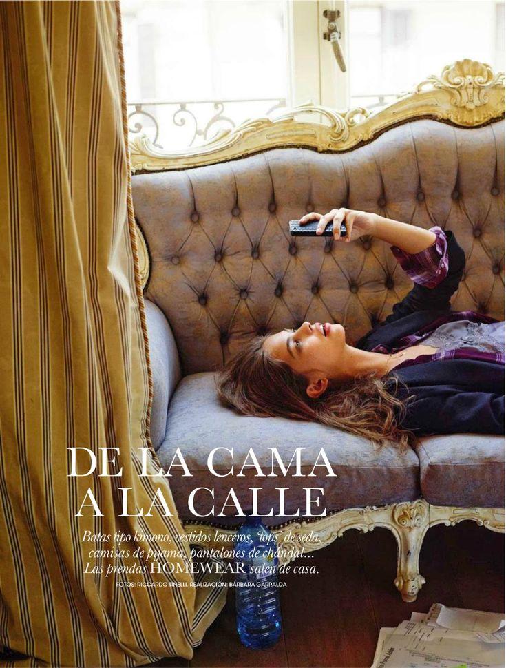 de la cama a la calle: lauren auerbach by riccardo tinelli for elle spain november 2013 | visual optimism; fashion editorials, shows, campaigns & more!