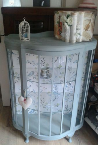 Vintage / antique/shabby chic display cabinet / bookcase / dresser painted in an | eBay