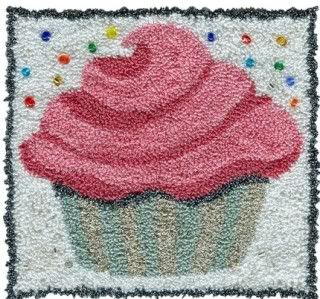 Pink Cupcake Punch Needle Pattern
