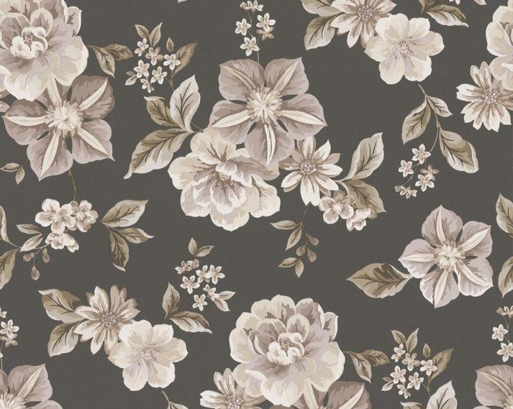 bloem behang taupe - Google zoeken