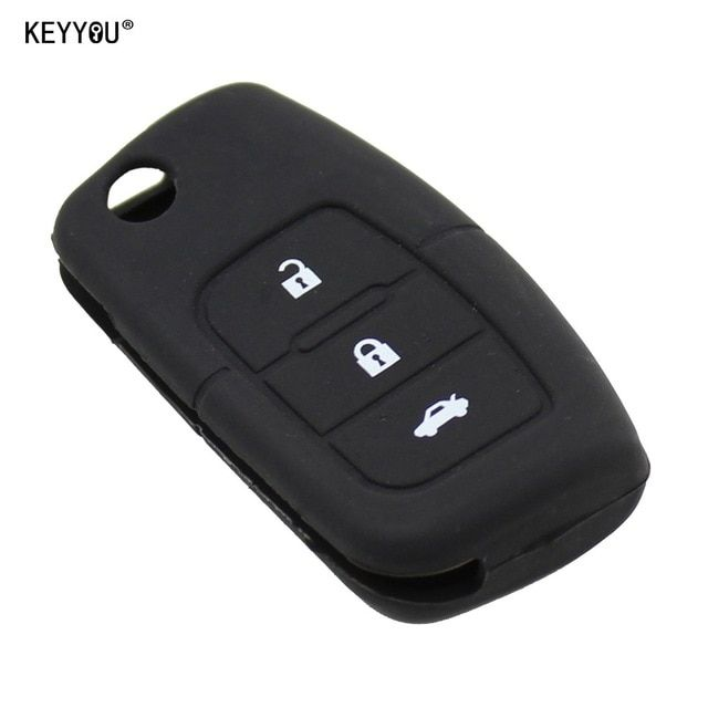 Keyyou 3 Button Silicone Car Key Remote Cover Case Shell Fob Fit