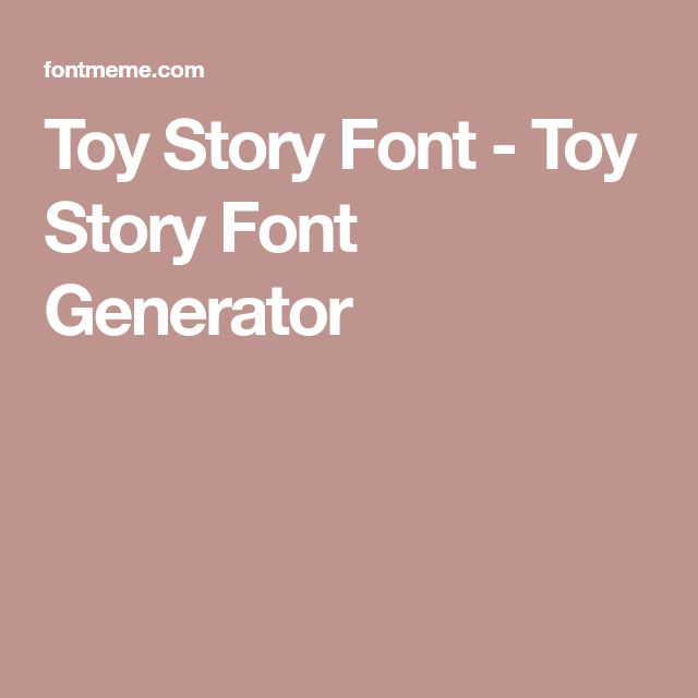 Toy Story Font - Toy Story Font Generator