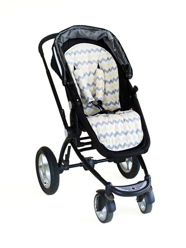 Stroller Liner - Chevron Yellow - Bambella Designs