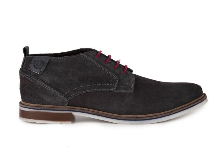 Bugatti - Pánské polobotky z broušené kůže Vanity D8026-PR3 / šedá | obujsi.cz - dámská, pánská, dětská obuv a boty online, kabelky, módní doplňky