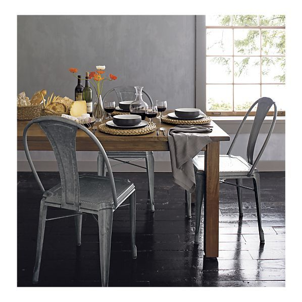 Dining Chairs Gun Metal Grey Classic Shape With Faux