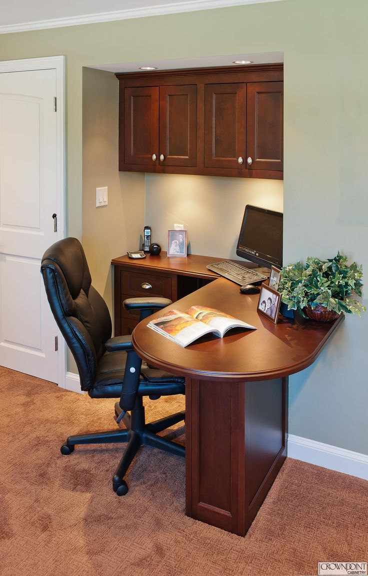 small desk area handcrafted from maple with a custom finish and hard wood top