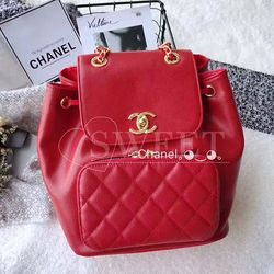 d5db6e428e5d Chanel Grained Calfskin Backpack Red A93748 | Chanel | Chanel ...