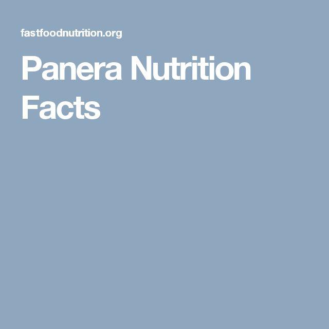 Panera Nutrition Facts
