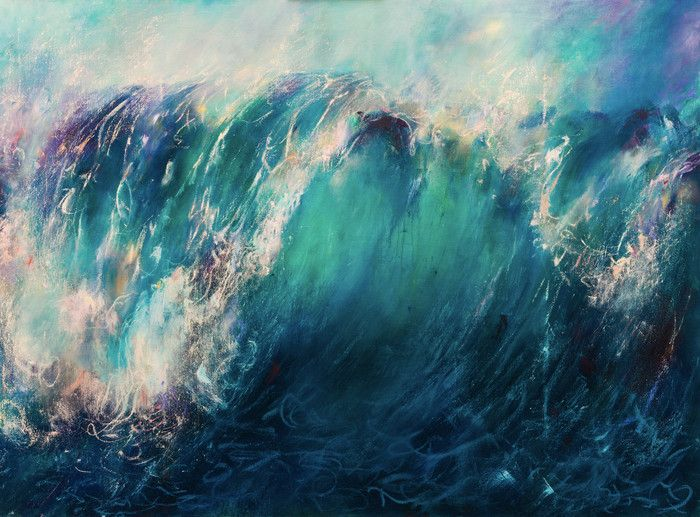 The Release - Contemporary Ocean Painting - Abstract ocean painting, ocean painting beauty, ocean painting watercolor, ocean painting on canvas, ocean painting waves, ocean painting oil, ocean oil painting, abstract oil painting, landscape oil painting, water oil painting, sky oil painting, environmental landscape paintings, environmental artists, abstract landscape beautiful painting, abstract landscape sea painting, giclee prints for sale