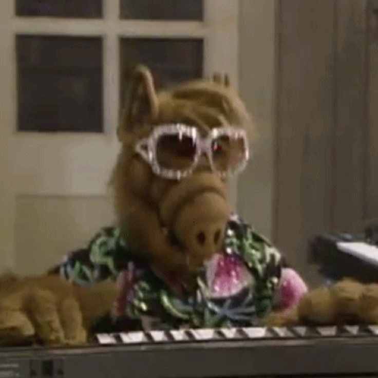 Alf With Glasses Cartoon