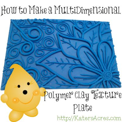 How to Make a Multi-Dimensional Texture Plate from Polymer Clay
