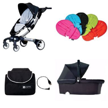 4moms Origami Pram With Bassinet Phone Charger