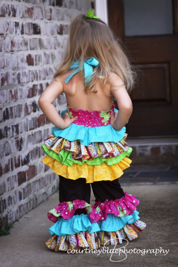 Think this would be an adorable outfit in different fabrics!