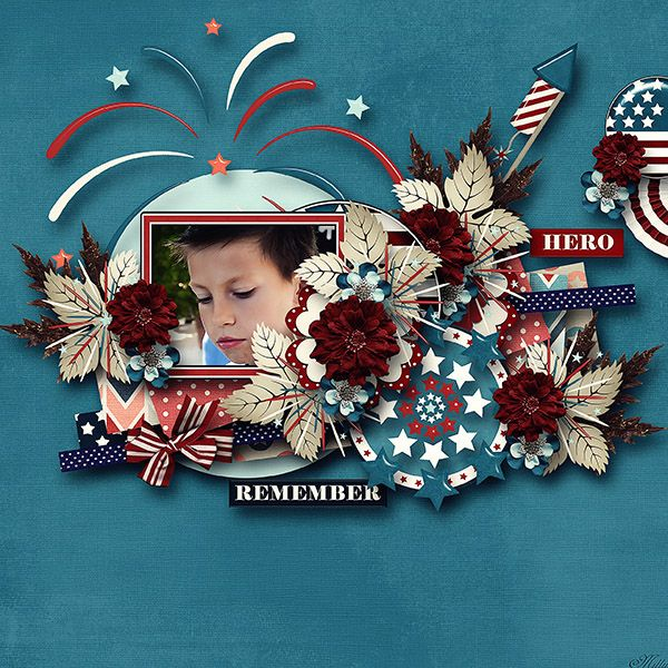 Independence day by Tinci Designs template Lovely Day freebie5 by Eudora Designs