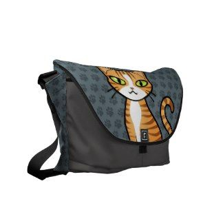 Design Your Own Cartoon Cat Courier Bags