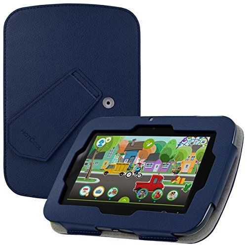 """LeapFrog Epic Case - HOTCOOL New PU Leather With Kickstand Cover Case For LeapFrog Epic 7"""" Android-based Kids Tablet Navy Blue"""