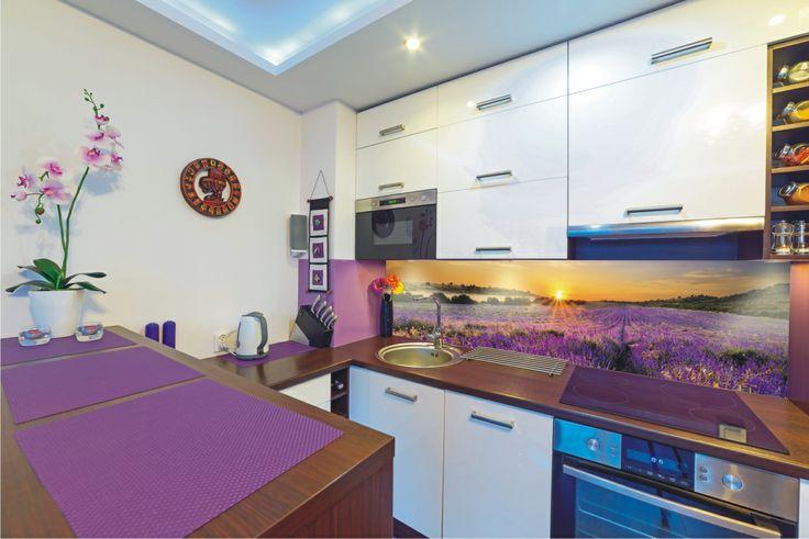 Lavender in kitchen.