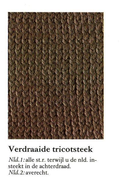 Verdraaide tricotsteek 001 - Breisteken