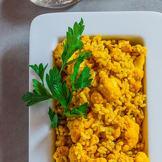 Curried Brown Rice with Roasted Cauliflower | Food & Wine