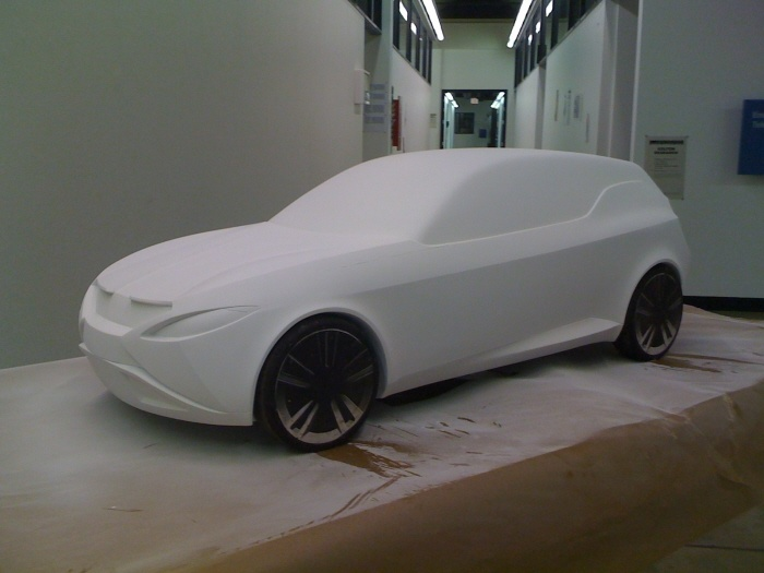 Art Center College of Design students made this BMW concept car out of Precision Board Plus HDU. http://www.precisionboard.com