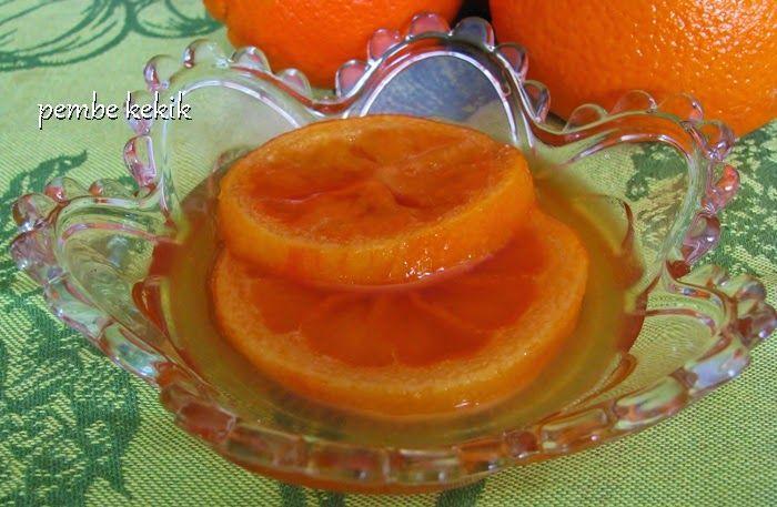 Dilim portakal reçeli