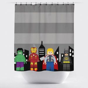 Superhero Lego Shower Curtain