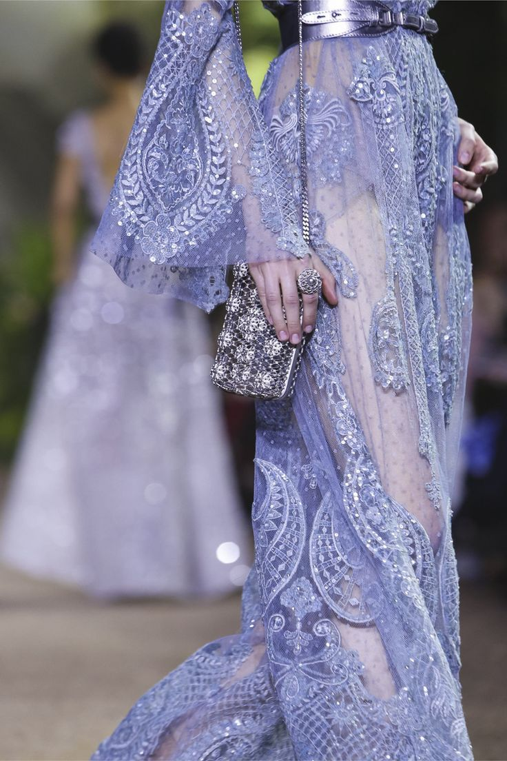 This looks close to my mid Tranquil purple. If it were more grayed it would be perfect. Elie Saab Summer 2016