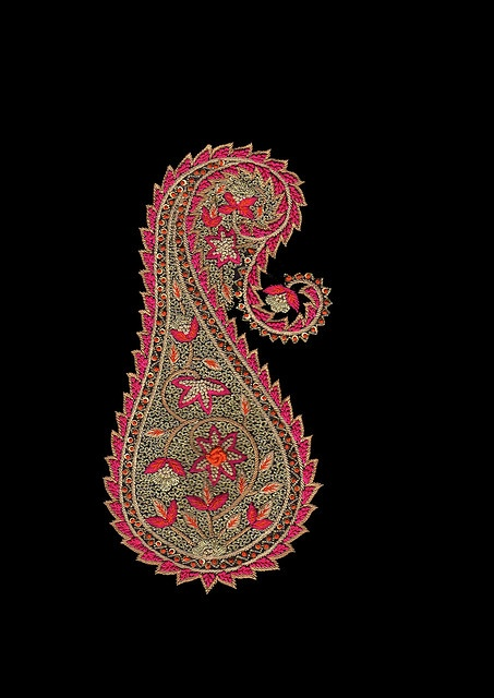 Kashida ( Embroidered ) paisley