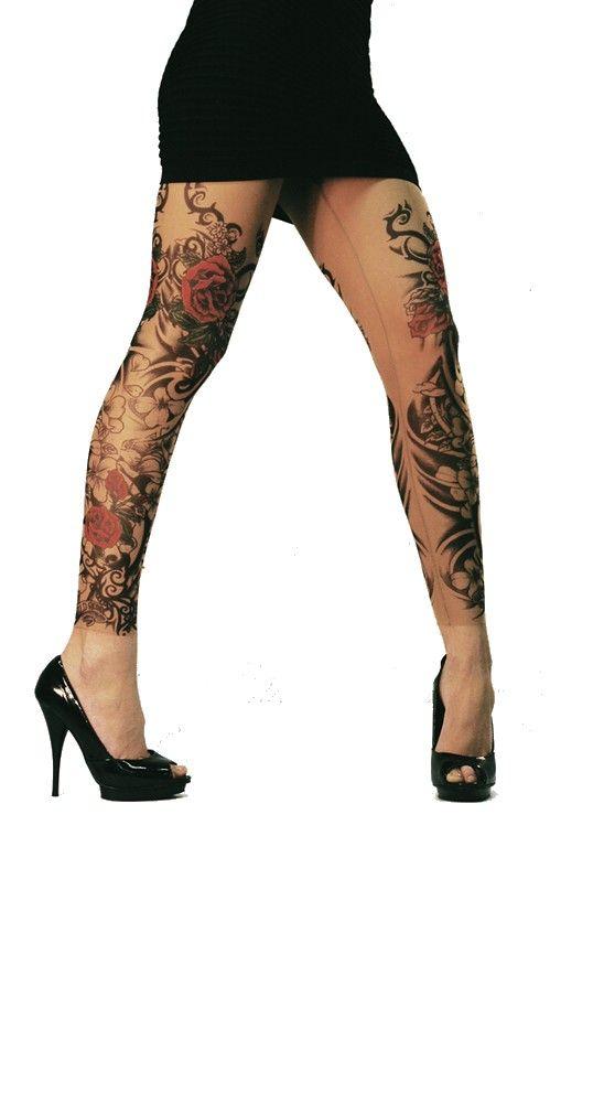 Wild Rose Tattoo Leggings Flamenco Tattoo Leggings