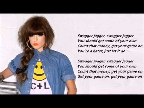 Cher Lloyd - Swagger Jagger /\ Lyrics On A Screen Credit me if you'll use