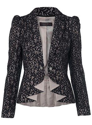 BLACK LACE BLAZER- MISS SELFIDGE