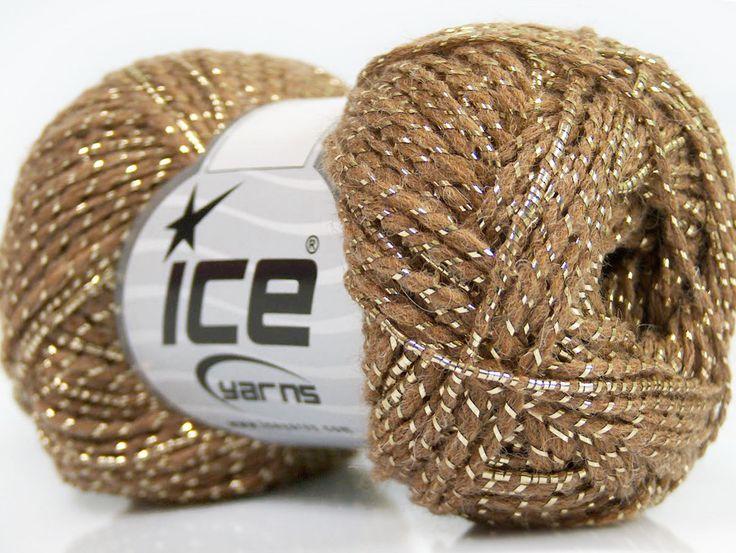 Metalik - Simli İplikler Simli Lüks Alpaka Viskon Altın Deve Tüyü  İçerik 36% Akrilik 19% Metalik Simli 16% Yün 16% Alpaka 13% Viskon Brand ICE Gold Camel fnt2-41415