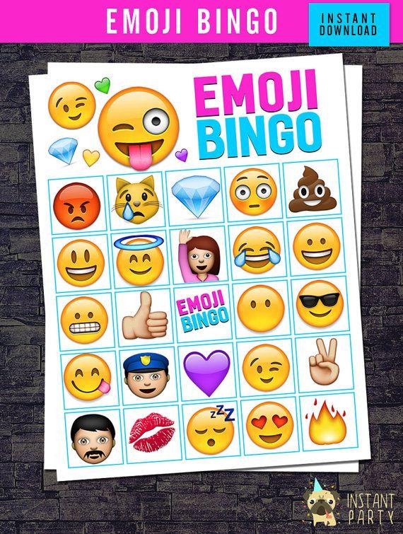 EMOJI BINGO 12 Bingo Cards 24 Calling Cards by ...