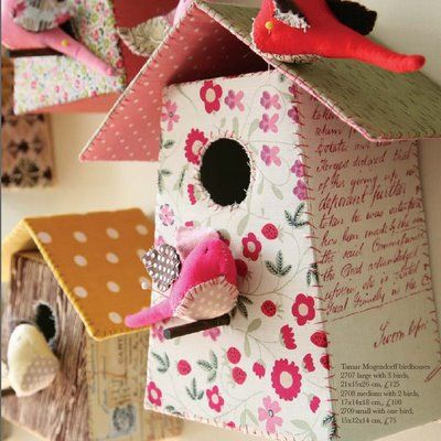 fabric bird house art