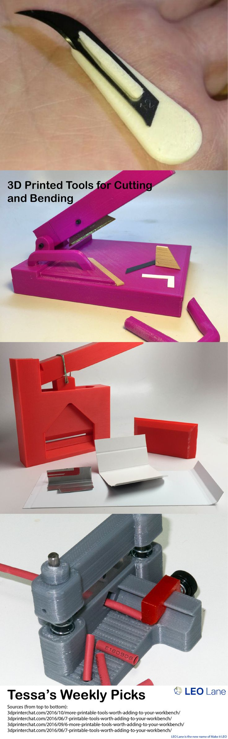 Tessa's Weekly Picks – 3D Printed Tools for Cutting and Bending