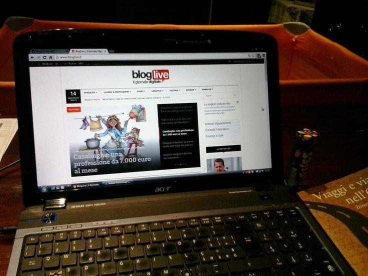 Fermi tutti: ma l'avete vista quanto è bella la nuova #grafica di Bloglive?  #design