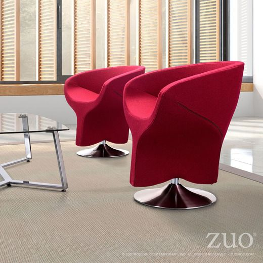 Zuo Modern Kuopio Chair In Red #livingroomchairs #diningroomchairs  #redchair Upholstered Dining Chairs,