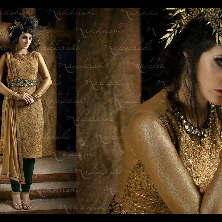 Wear this designer unstitch salwar suit with this elegant look