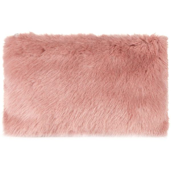Whistles Faux Fur Clutch found on Polyvore