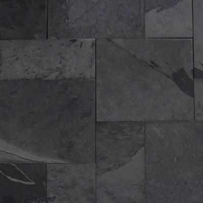 FastStone+ Black Line 12 in. x 12 in. Slate Peel and Stick ...