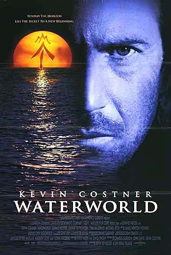 """Waterworld"" 1995 - Soundtrack - James Newton Howard, composer - Kevin Costner, Jeanne Tripplehorn, Dennis Hopper, Actors - Kevin Reynolds, Director"