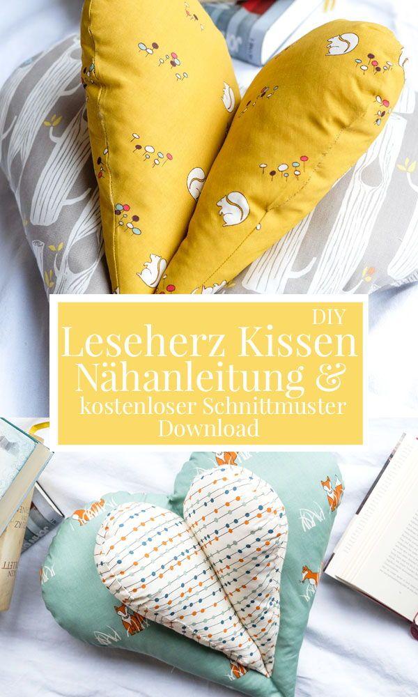 DIY Leseherz Kissen | Ein gemütliches Kissen zum Lesen ...