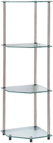 Convenience Concepts 157005 Go-Accsense 4-Tier Glass Corner Shelf, Clear Glass Convenience Concepts,http://www.amazon.com/dp/B000W9VYV8/ref=cm_sw_r_pi_dp_x29ktb0W3AV80HGV