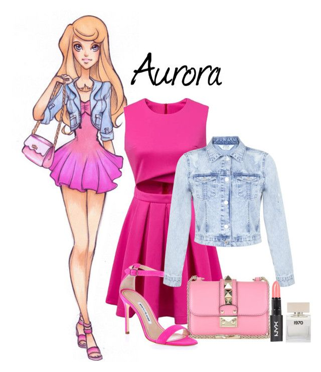 """Disney High School Mean Girls 2"" by funnycakes111 ❤ liked on Polyvore featuring Disney, Miss Selfridge, Valentino, Manolo Blahnik, Bella Freud and meangirls2"