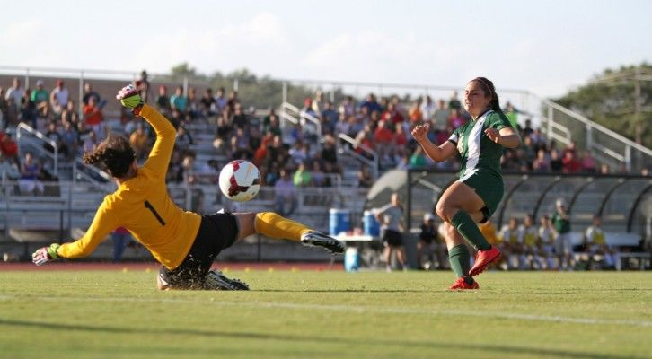 Standing tall. The University women's soccer team rallied against Chicago State University and brought a 3-0 victory home Oct. 10.