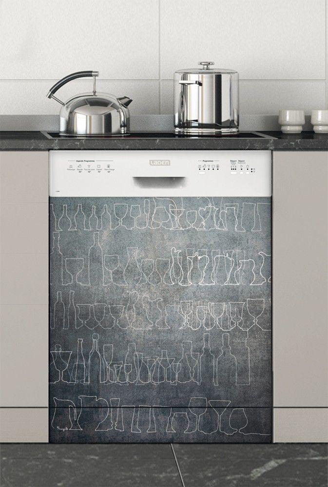 Zinc, Stickers Lave-vaisselle - Stickers électroménager #sticker #électroménager #deco #intérieur #papierpeint #surmesure #peinture #graphisme #wallpaper #lavevaisselle