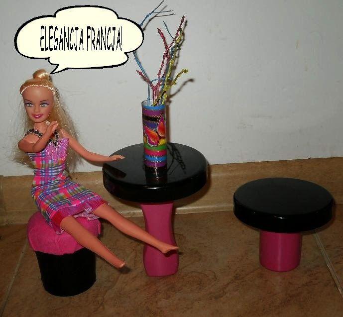 Meble dla Barbie - zrób je sam: elegancki stół i krzesło